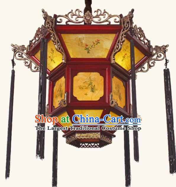 Chinese Traditional Wood Palace Lantern Handmade New Year Hanging Lanterns Ceiling Lamp Hanging Lanterns Ceiling Lamp Lanterns