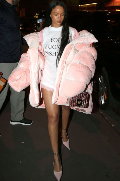 From puffer coats to shearlings, Rihanna's best winter coats to inspire your own cold-weather wardrobe: