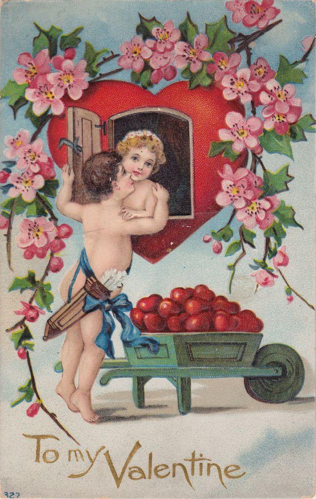 Wings of Whimsy: Cherub Flirts - free for personal use #vintage #ephemera #printable #freebie #valentine #love #cherub