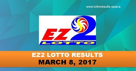EZ2 LOTTO RESULTS MARCH 8, 2017 - WEDNESDAY