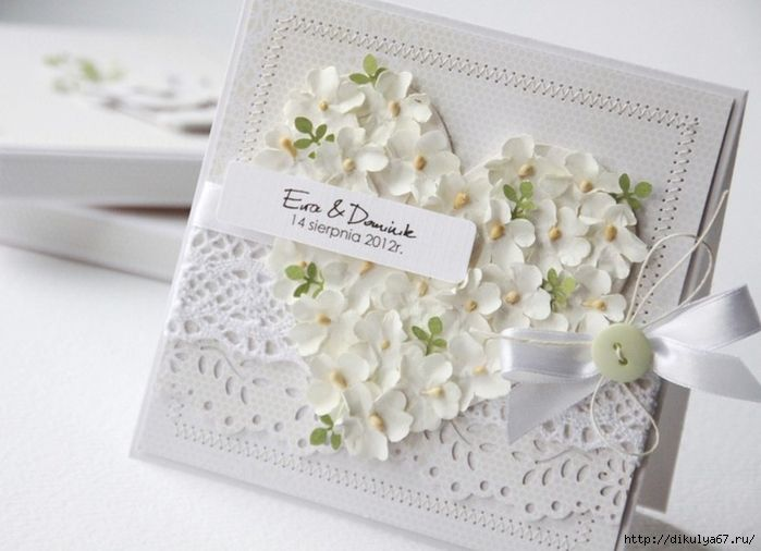 Открытки ручной работы на свадьбу с поздравлением