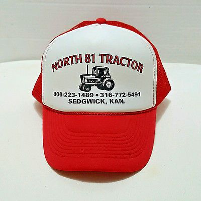 Tractor Sales Trucker Hat North 81 Tractor Red Adjustable Hipster Skater