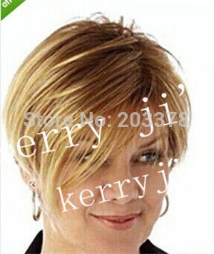 Synthetic wigs Asymmetrical Posh Style Short Bob Blonde Side parting Wig free shipping