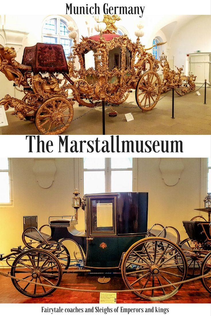 Looking for things to do in Munich? The Marstallmuseum showcases carriages and sleighs straight out of a fairytale. Find the museum at Nymphenburg Palace. #Munich #Munchen #Nymphenburg #museum #King Munich attractions | Things to do in Munich | Munich museums | Munich Bavaria