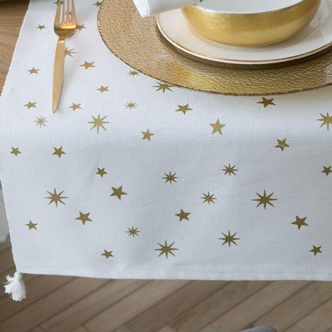 Camino de mesa estampado estrellas mesas zara home and home - Caminos de mesa zara home ...
