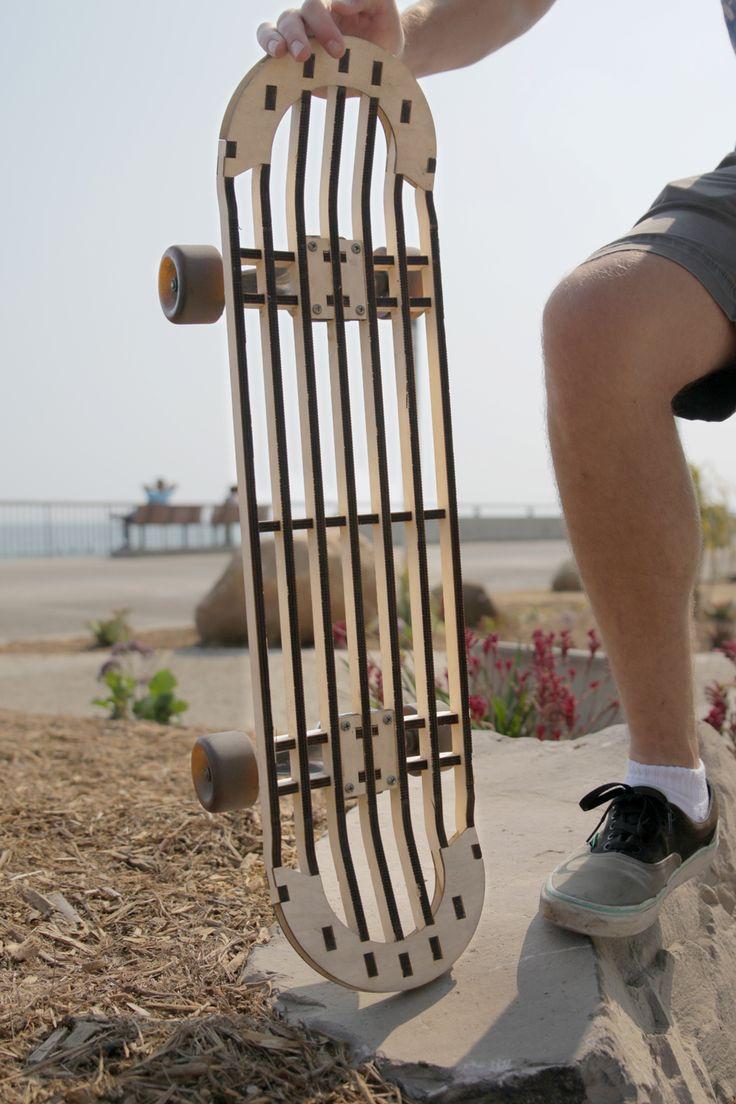 Laser Cutting a Skateboard (#QuickCrafter)