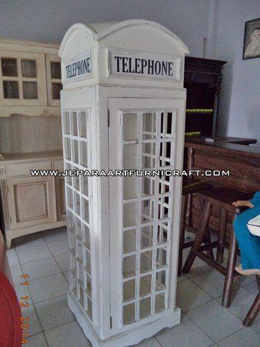 Lemari Hias Minimalis Telepon Inggris