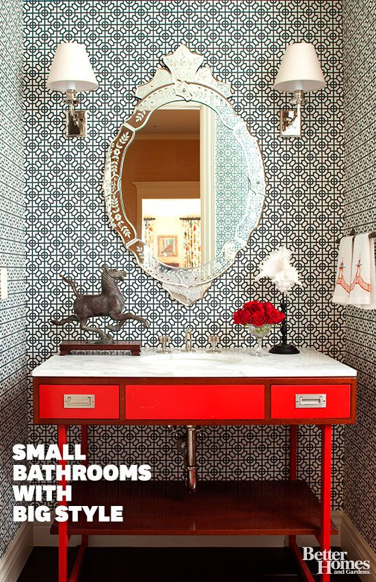 Make the most of your small spaces with these wonderful bathroom ideas: http://www.bhg.com/bathroom/small/small-bathroom-decorating-ideas/?socsrc=bhgpin092813smallbathrooms