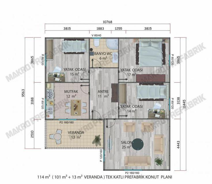 114 M² Tek Katlı Evler
