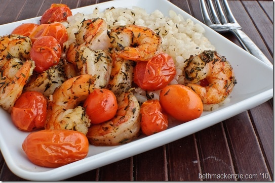 Creamy Rice with Roasted Shrimp  from Real Simple.