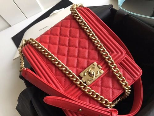 37b4a9d29c52 Chanel 2019 BOY CHANEL Handbag AS0130 Red#SS2019 #onlineshopping  #discountbag #designerbag #