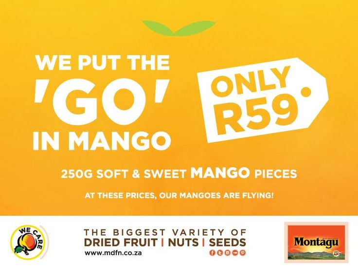 Did you know that #Montagu #mango pieces are now ON SPECIAL? Only R59 for 250g! Click to find your nearest store: http://bit.ly/1TXrqDI