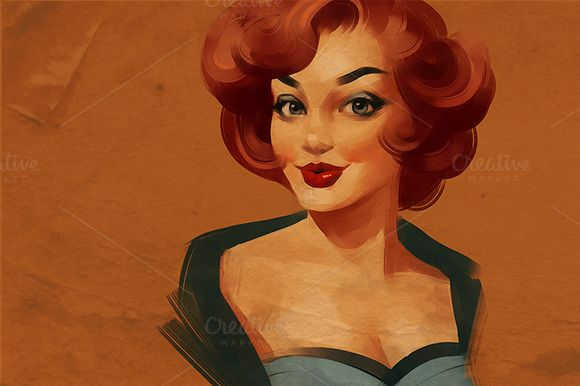 Vintage woman by Irene on @creativemarket
