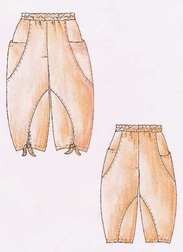 Eine extravagante Ballonhose!!!   Eine legere Hose mit Gummizug im Bund, wunderschönen großen Eingrifftaschen seitlich über der Seitennaht.  Die Hosenbeinsäume werden durch einen Knoten...
