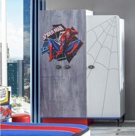 #Spiderman #kledingkast voor de #Spiderman #kinderkamer!
