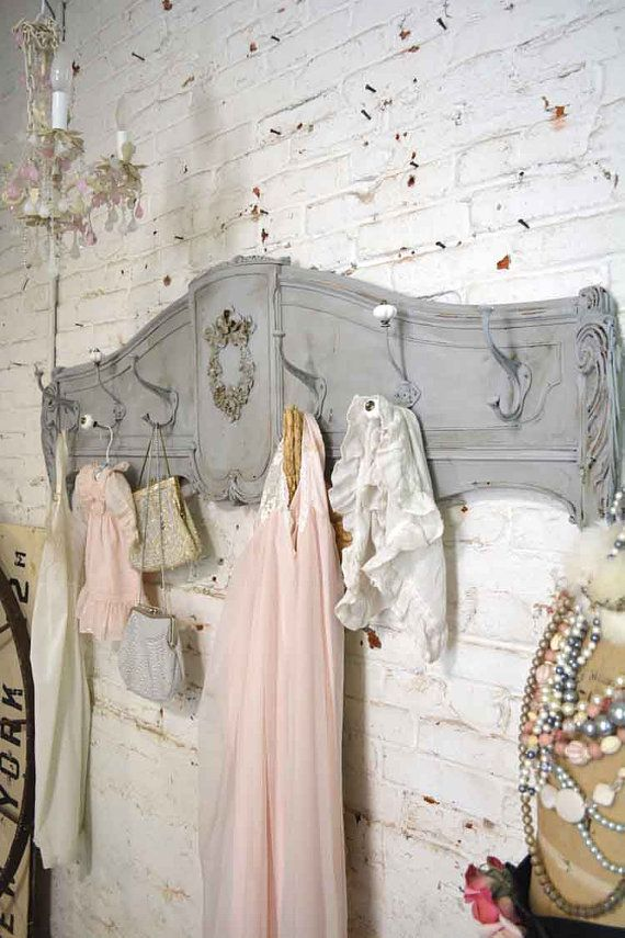 Painted Cottage Prairie Chic Chippy Hand Made Coat Rack - Click Image to Close