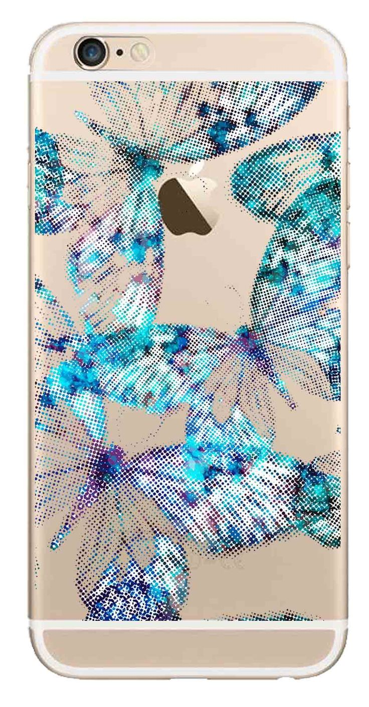 Whatskin DIY Style Illusive Butterflies Clear Back Cover for iphone 6