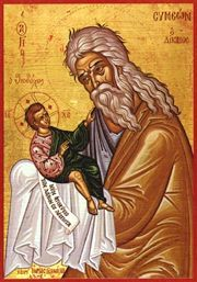 "St. Simeon, the God-receiver...""Now doest thou dismiss thy servant, O MAster..according to thy word,,in peace...for mine eyes have seen thy salvation..."""