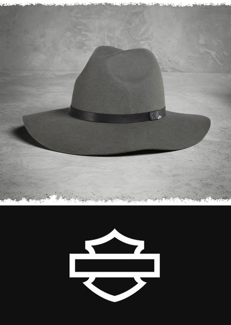 The best thing about the Felt Floppy Hat? The wonderful way it automatically pulls together every outfit you put on. | Harley-Davidson Women's Felt Floppy Hat