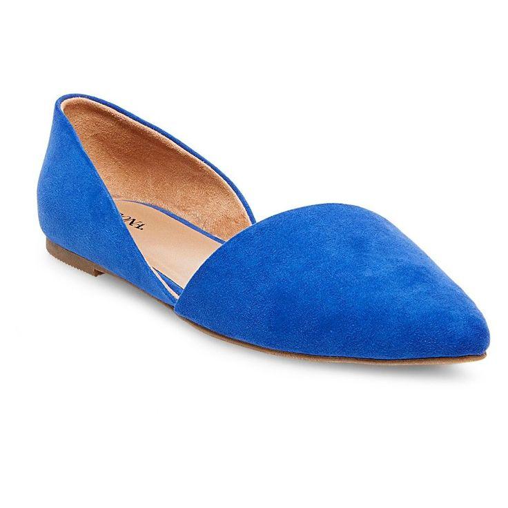 Women's Poppy d'Orsay Pointed Toe Ballet Flats - Blue 6.5