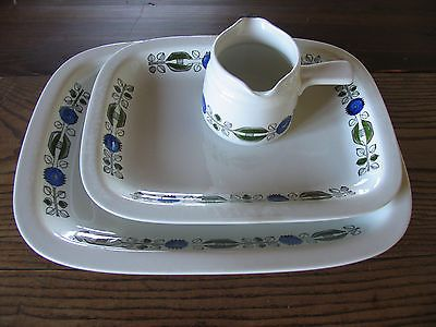 Rorstrand Siv serving plate and gravy boat Sweden Scandinavian collectibles