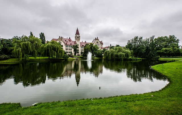 The Faculty of #Architecture of #Wroclaw #University of Techology #castle #poland #park #pond