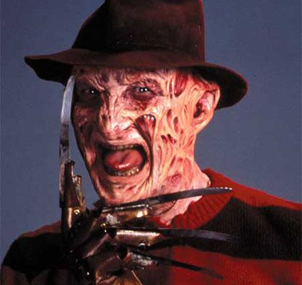 "Freddy Krueger movies. Although almost all of the ""A Nightmare on Elm Street"" movies are from the 80's, they were a big part of my 90's childhood."