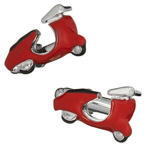 RED Scooter Cufflinks Mods Moped Rider Bike Cruise Party Formal Present Gift Box