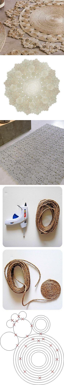 Самодельные коврики из джута или сизаля...♥ Deniz ♥: