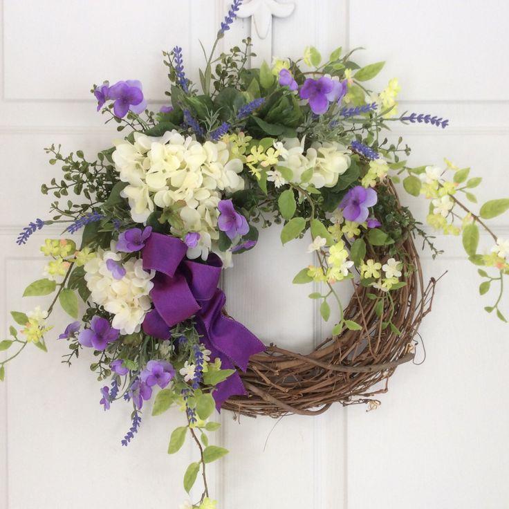 Spring Wreaths-Valentine Wreath-Tulip Wreath-Front Door Wreath-Mother's Day Wreath-Cottage Chic-Wedding Decor-Summer Wreath by ReginasGarden on Etsy https://www.etsy.com/listing/219697357/spring-wreaths-valentine-wreath-tulip