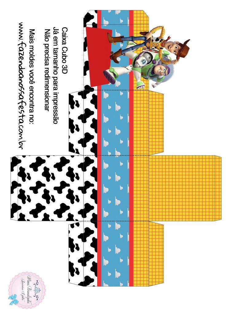 Caixa Cubo 3D Toy Story                                                                                                                                                                                 Mais