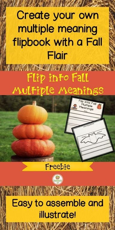 You can create a flip book of multiple meaning Fall words with this freebie!