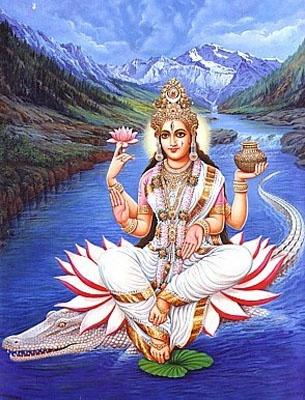 Ganga Chalisa, The river goddess