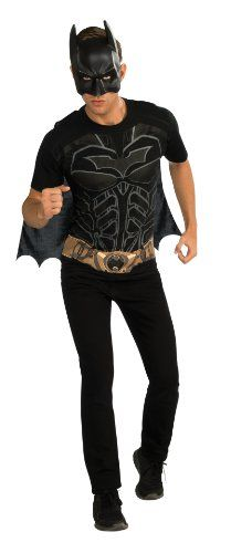 Rubies Costume Mens Dc Comics Superhero Style Batman Movie T-Shirt @ niftywarehouse.com