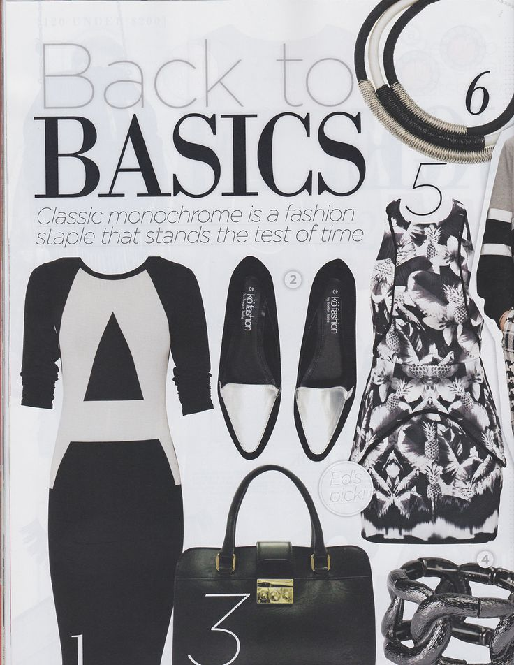 OK Magazine: Showing you how to match monochrome with our Black and White rope necklace