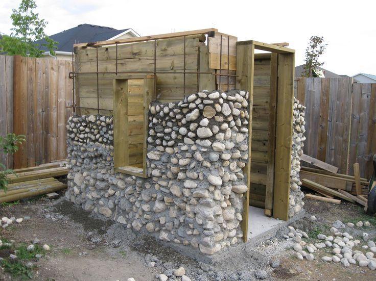 Konstruktionsidee für kleine Gartenhütte und Ver…