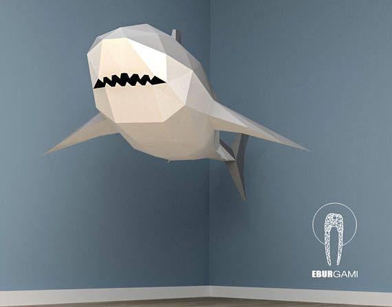 XXL Great White Shark Papercraft 3D Papercraft Build Your