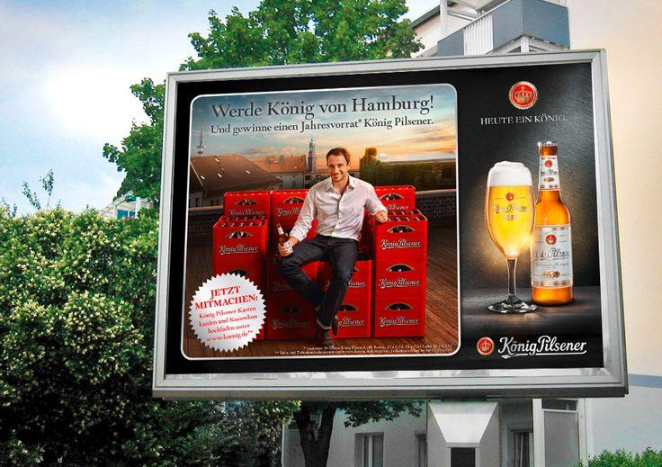 """König Pilsener Kampagne """"König von…"""""""