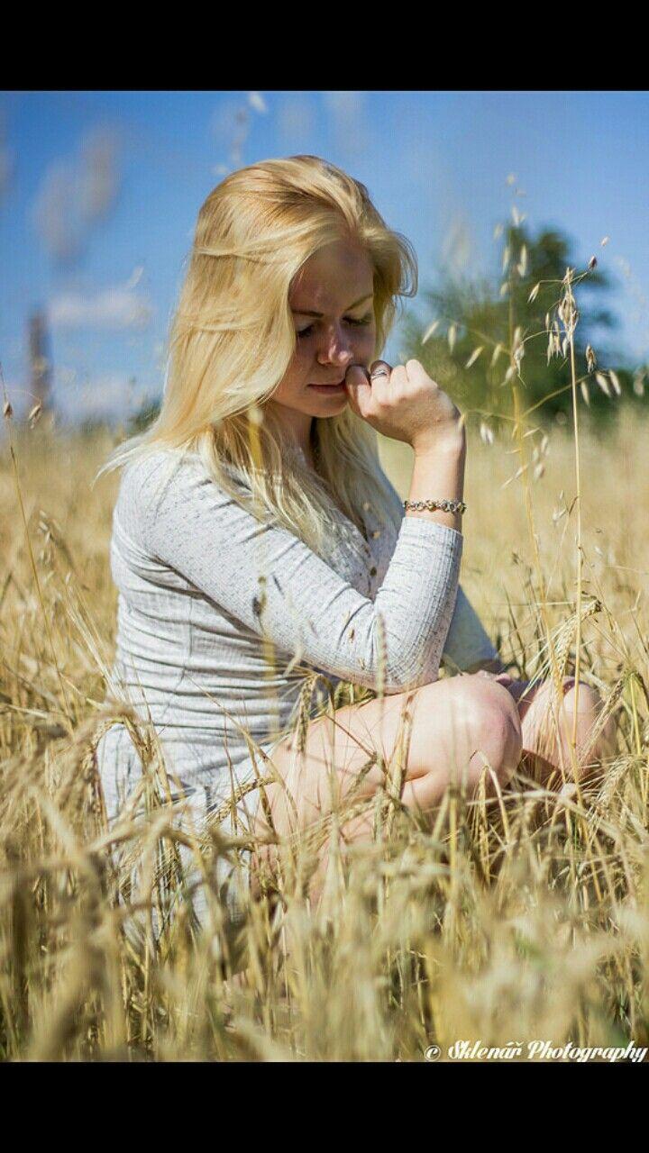 my work - girl in corn field, czech republic
