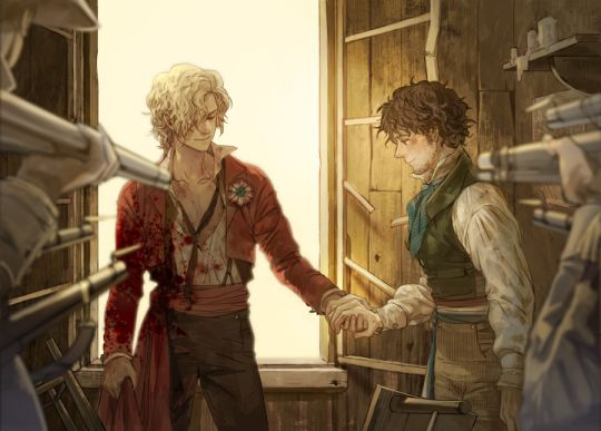 Prema-Ja: #barricade boys Enjolras and Grantaire