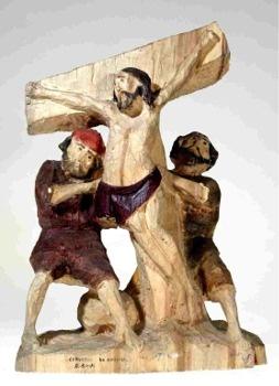"""""""Chrystus na krzyżu"""", 1986, Roman Śledź  Państwowe Muzeum Etnograficzne"""
