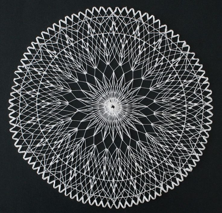 Körrece. (Cross stitch. Filet lace.)