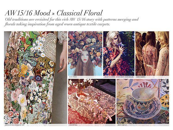 Classical Floral- Inspiration from antique carpets Autumn/Winter 2015/16 Print Trend Report Part 1   Patternbank