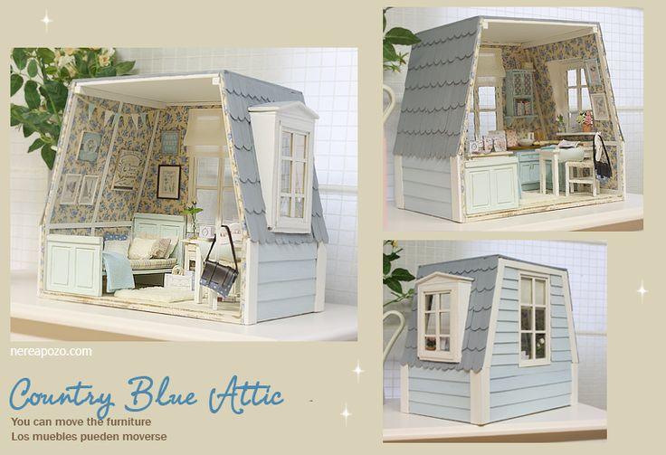 "DIORAMA ""COUNTRY BLUE ATTIC ""( Ooak by Nerea Pozo * Keera * ) | eBay"
