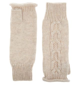 Featuring a long-line design, our Kensington cable-knit cut-off gloves will keep hands and forearms warm and cosy when the cold weather hits. Stretchy ribbed trims provide a comfy fit.