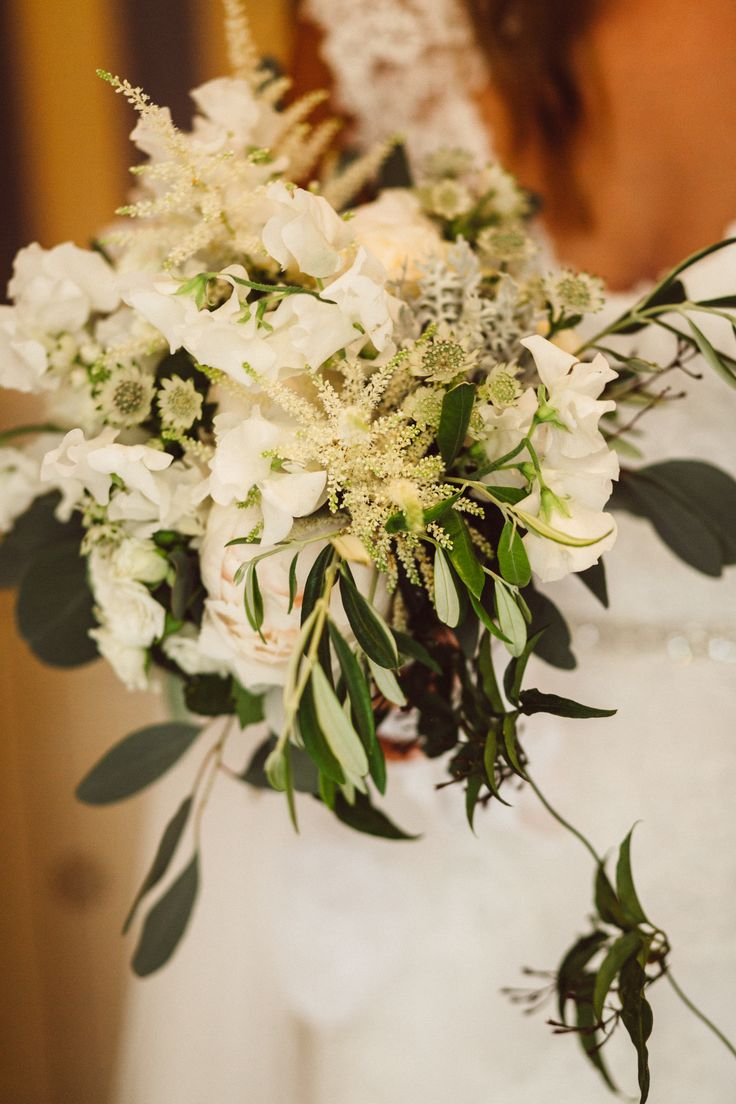 Organic green + white bridal bouquet; VENUE Hotel Villa Belrose, St. Tropez France, PHOTOGRAPHY Joel + Justyna Bedford, destination wedding photographers