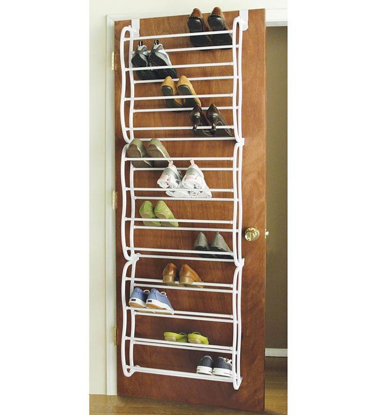 Over-The-Door Shoe rack that holds 36 Pairs of shoes$29.95 at Problemsolvers.com