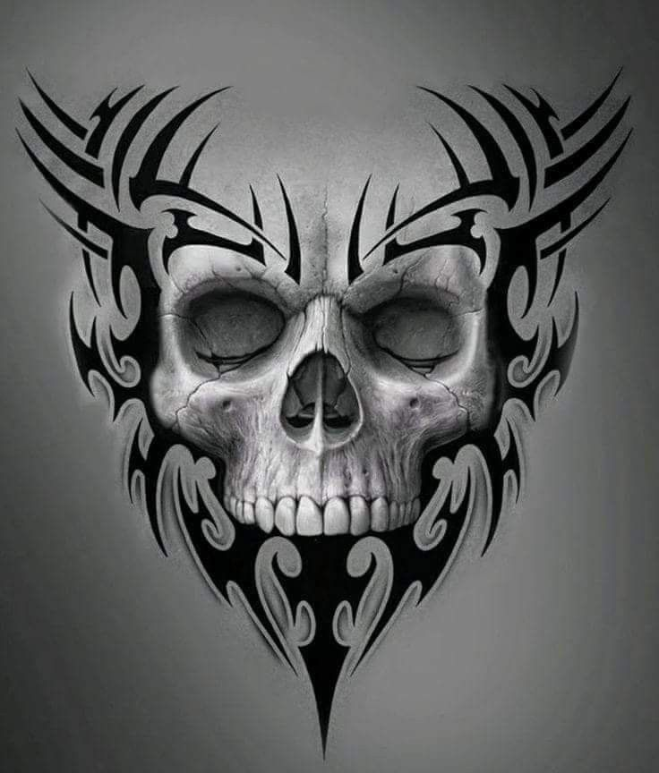 Tribal Skull Calavera Tribal Craneos Y Calaveras Fotos De Calaveras