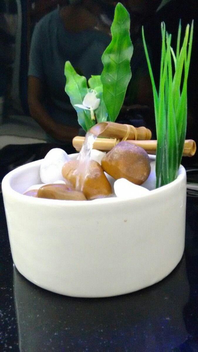 fonte de agua cascata bambu decorativa ou bebedor de gato