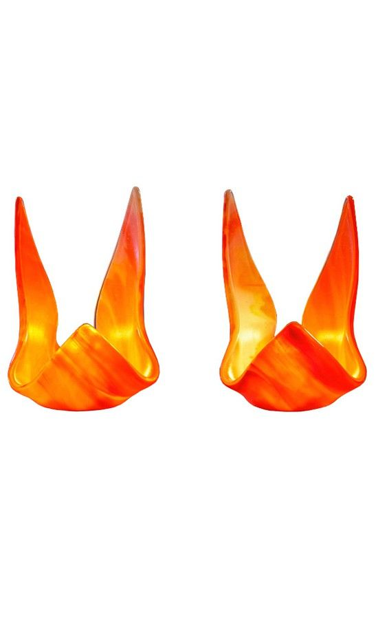 art glass orange candle holders, accessories, gifts, candle lights